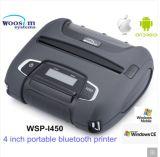 Ios 무선 Barcode 인쇄공 및 신용 카드 독자와 가진 Woosim Wsp-I450 인조 인간 이동할 수 있는 Bluetooth 열 인쇄 기계