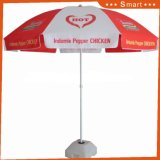 주문품 Printing 210d Waterproof Fabric Advertizing Beach Umbrella
