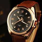 Luxuxvorwahlknopf-Mann-Geschäfts-Uhr-wasserdichte Armbanduhr des diamant-H325 für Männer