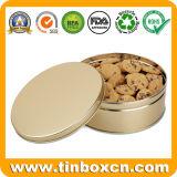 Изготовленный на заказ круглые олов обслуживания печенья металла для коробки хранения еды