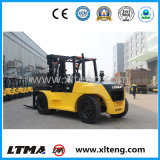 Alta qualidade Forklift Diesel do recipiente de 10 toneladas com Positioner da forquilha