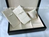 Черная обложка из натуральной кожи высокого качества подарочной упаковки ювелирных изделий оптовая торговля