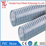 Flexible de fibra de alta calidad transparente trenzado manguera de PVC transparente