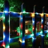 7mは21FT 50のLEDs LEDの太陽エネルギーロープIP68クリスマスのための防水屋外ロープライトをつける