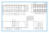 2,54 mm Tipo de SMT Reta Jane Caixa de gado a Plataforma