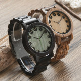 Relojes de madera del cuarzo del reloj de madera del Mens