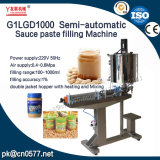 Halbautomatische Pasten-Füllmaschine der Soße-G1lgd1000 für Seasame Paste