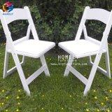 Présidence de pliage extérieure blanche de résine de jardin Hly-RS046