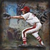 야구를 위한 3개의 D 금속 유화 벽 장식