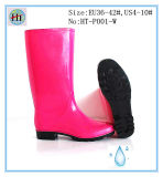 Ботинок цвета женщин, ботинки дождя повелительницы Красн, дешевый ботинок дождя