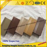 Perfil de aluminio de los muebles con los colores y la dimensión de una variable Customerzied de la superficie del banco de estirar