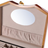 La Pintura de poliuretano marrón joyero de madera con cajón