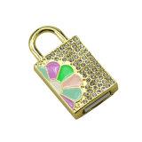 Привод вспышки USB роскошного замка диаманта самозагружаемый