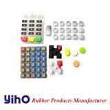 Fabricante de goma de los telclados numéricos del botón/de la limpieza del caucho de silicón en China