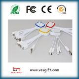 LED Charger&Transferの平らなマイクロUSBケーブル多彩なネットワークケーブル