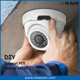 cámara del IP del Poe de la bóveda de la cubierta del metal de 1080P Onvif con el Mic
