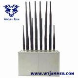 14バンドデスクトップの携帯電話GSM CDMA 3G 4G WiFi Lojack VHF UHFのラジオすべてのバンド妨害機