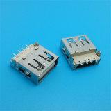 90 정도 2.0 USB 소켓을 두껍게 하는 보호된 플라스틱 코어