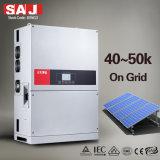 3MPPT SAJ 50KW PI65 Trifásico 380V Inversores Solares de grade com DC