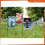 Cheap hecho personalizado perro en la valla del jardín de poliéster Bandera Decoración