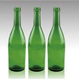 エメラルドグリーンカラーの食品等級のRedwineのガラスビン