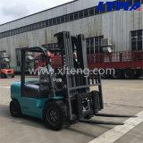 Caminhão de Forklift Diesel hidráulico de 4 toneladas com o mastro livre cheio