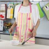 Venda por grosso de 100% algodão Aventais de cozinha cozinha impressão preta e luvas de forno
