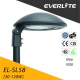 Aluminium Pfosten-Spitzendas licht des Everlite Qualitäts-Garten-Licht-LED Druckguß 30W 40W 50W