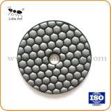 A almofada de polir Lustre Buff de granito, azulejos de mármore.