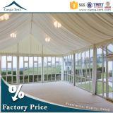 Универсальный стеклянной стеной палатка пролет палатки для событий с мебелью и Пола/внутренней панели боковины