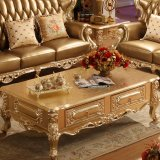 كلاسيكيّة جلد أريكة مع طاولة لأنّ أثاث لازم بينيّة ([508ا])