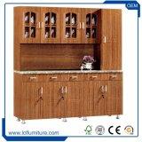 Modules de cuisine en bois populaires modernes de Foshan de meubles de forces de défense principale