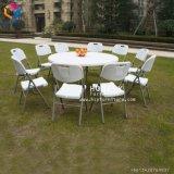 Openlucht het Dineren van de Tuin van de Partij van het Huwelijk HDPE Witte Plastic Vouwende Stoel