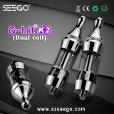 거대한 수증기 관례 OEM 도매 Seego는 K2 이중 코일 펜 기화기를 G 명중했다