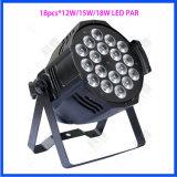 La luz de la etapa de la luz de techo LED de 18*12W Quad parte Club PAR
