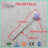 La costura al por mayor filetea a la estrella del plástico de 44m m y a pista de la luna que cosen el Pin recto