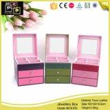 Красочный Whalesale двумя ящиками PU ювелирных изделий из кожи в салоне (8191)