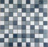 Telha de vidro do mosaico da piscina azul