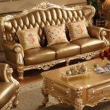 Sofá de couro clássico com a tabela para a mobília Home (508A)