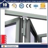 Starke Aluminiumdoppelverglasung-Bi-Falz-Tür des neuen Entwurfs-2017