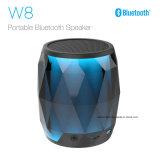 2018 Nova chegada W8 transparente LED coloridos do alto-falante Bluetooth portátil do Cilindro