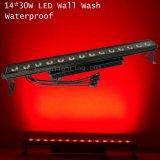 Luz da lavagem da parede do diodo emissor de luz da lavagem 14LEDs 30W RGB do estágio ao ar livre