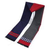 冬暖かいカラーブロック印刷の厚く編まれた編まれたスカーフ(SP802)のような人の可逆カシミヤ織