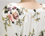OEM 폴리에스테 여자의 감미로운 꽃 패턴 복장