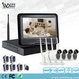 4CH drahtloses WiFi IP-Kamera-Sicherheits-Aufnahme-System CCTV für inländisches WertpapierBuilt-in 10 Zoll LCD-Bildschirm