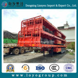 반 트레일러 3 차축 30-35 톤 낮은 평상형 트레일러 콘테이너 수송