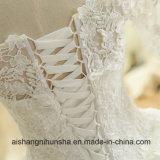 Мантии втулок цвета слоновой кости платья венчания Mermaid шнурка шикарных флористических Bridal