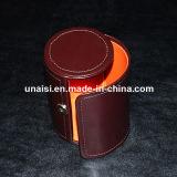 Cadre en cuir de cravate d'unité centrale de proue de cylindre pour l'empaquetage de cadeau