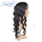 Capelli umani dell'onda 130% di densità della parrucca piena allentata brasiliana del merletto