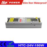 24V 6Um transformador LED 150W AC/DC Fonte de alimentação Comutação HTC